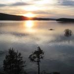 Traumhafter Sonnenuntergang über dem Foxen See